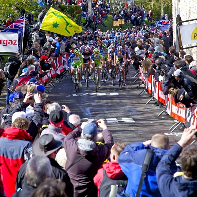 The Peloton Charging up the Mur de Huy from 2012, can't wait for Wednesday!