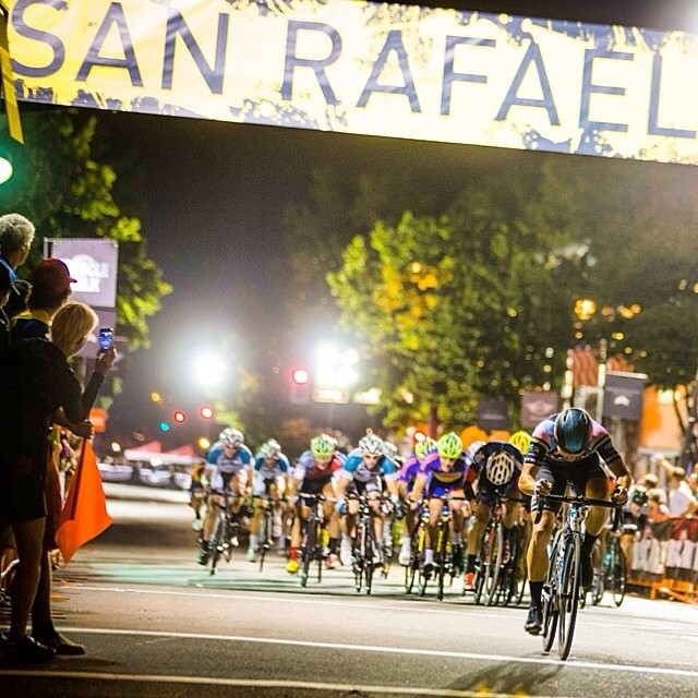 Rob Evans of @beardevteam solo during the last lap of the San Rafael Twilight Crit. @hooptie photo via @acaurora