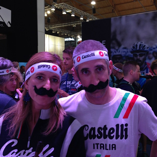 #castelliretroparty more Team Castelli @smittystuff and Gioia Cremonese