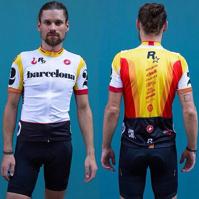We are proud to release the @redhookcrit Barcelona No. 2 official jersey. This will be available at the race on Saturday and online next week. Modeled by Jonas Klock Design by Jonah Birns