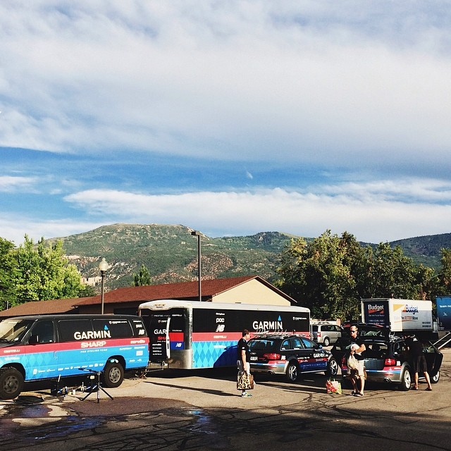 @rideargyle setting up in Cedar City UT for @thetourofutah via @bokanev