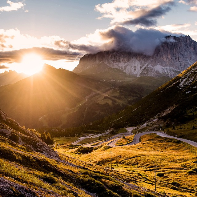 Late in the evening, high above the Passo Pordoi. | pic: @jeredgruber