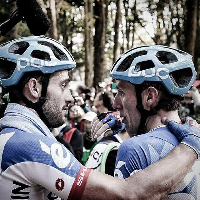 Japan Cup. Nathan Haas and Dan Martin @rideargyle photo via @shojiro1017