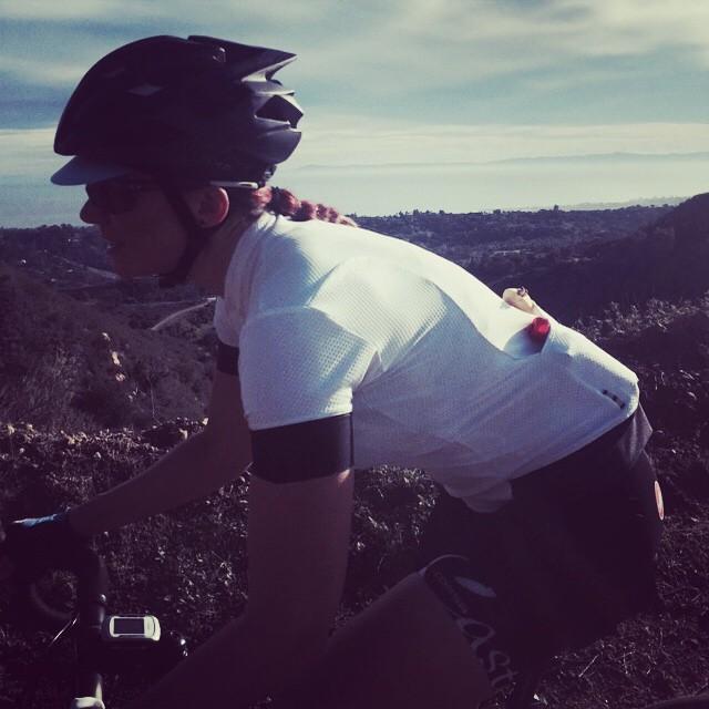 Climbing Gibraltar in Santa Barbara, CA with @amberhalvorson