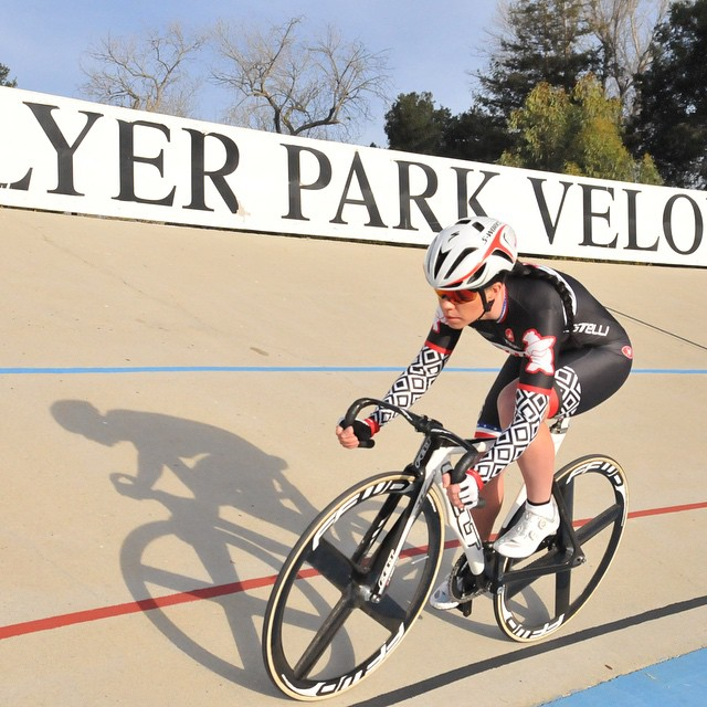 Great California morning light at Hellyer Velodrome with @hurricane_korina