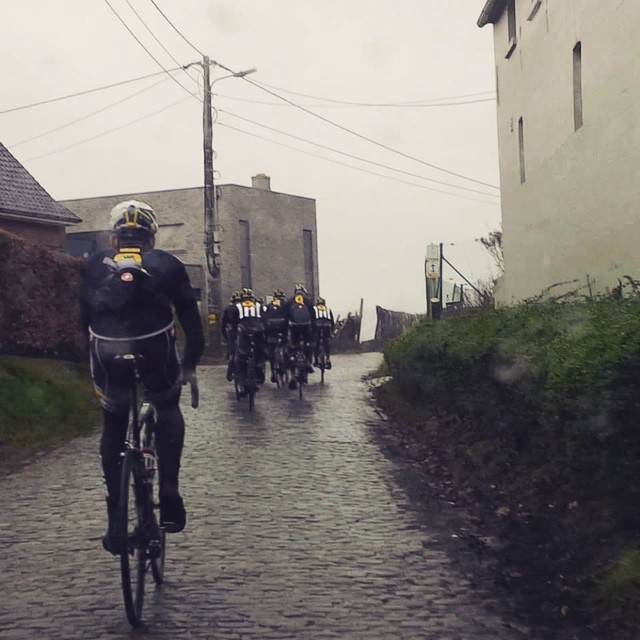 Oh yes, it's typical classic's weather in Belgium this weekend... @teammtnqhubeka is ready for the ‪#‎OHN‬ & ‪#‎KBK‬