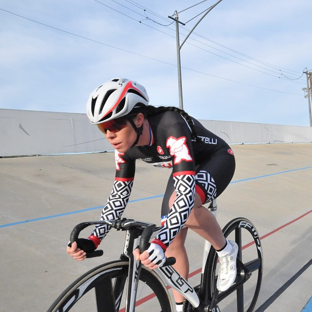 Thanks @hurricane_korina ! Videos coming soon from Hellyer Velodrome @feltbicycles @ffwdusa