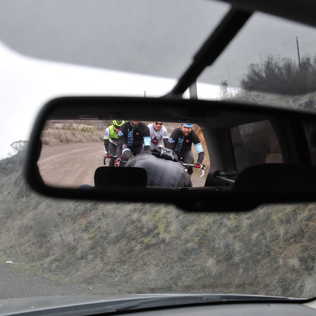 Front seat view from #gorgeroubaix Recon yesterday with @tallblacksocks @joel_sunderland @chumpy4747 @breadwinnercycles @ridehifi @hchcycling